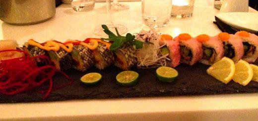 Sushi på restaurang Bauer