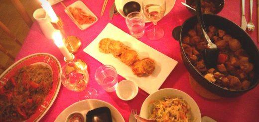 Koreansk middag i Sickla.