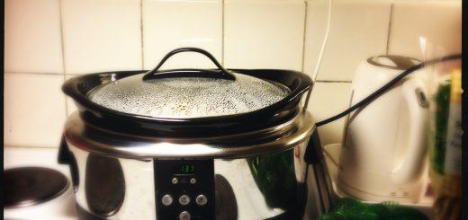 Min Crock-pot går varm.