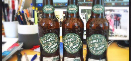 Ölflaskorna från Innis & Gunn är en riktig prydnad.