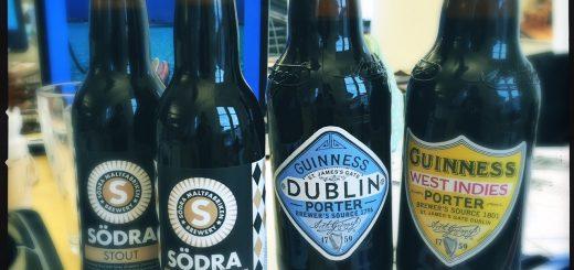 En ny stout från Södra Maltfabriken och två från Guinness.
