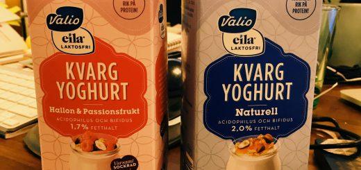 VI testar nyhet från Valio: laktosfri kvargyoghurt.