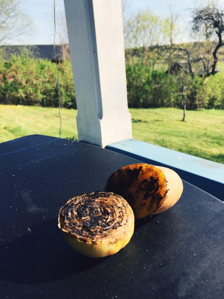 Snygga bilder är A och O för en blogg! Jag ger er: bränd lök + bränd potatis.