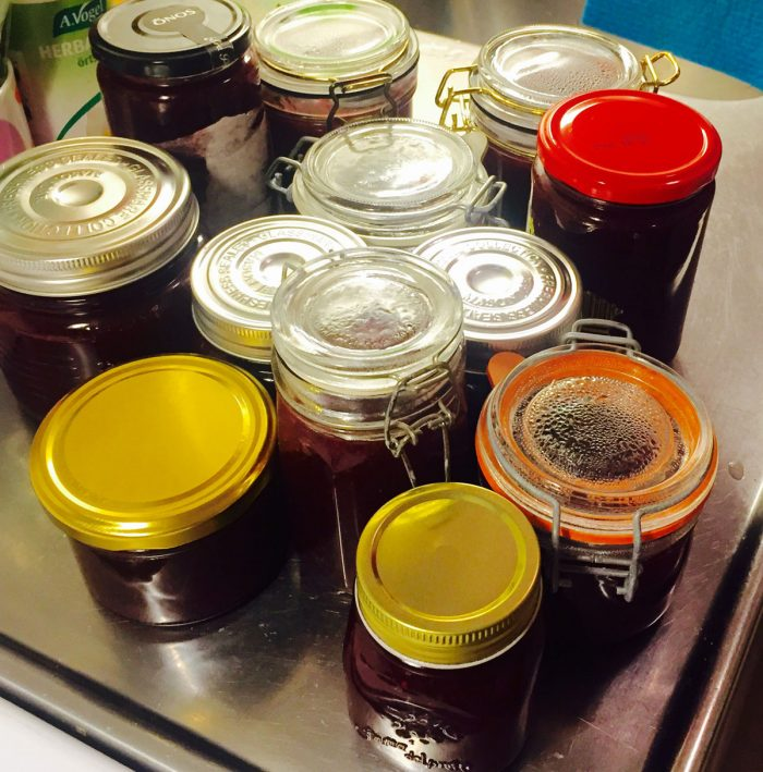 Recept på enkel och supergod rödavinbärssylt. Så här många burkar blir det när du har tre liter bär men för enkelhetens skull så har jag gjort recept på en liter så kan du plussa på.