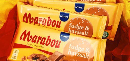 Jag testade Marabous nyhet med fudge och havssalt.
