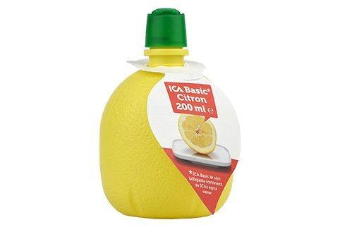 Ica Basics pressade citron innehåller 10% citron.