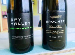 Två ettiketer att lägga på minnet: Spy Valley och Brochet Quarts de Chaume.